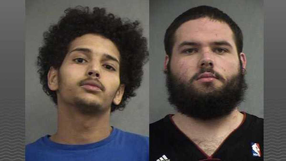 Damien Andrew Maddox (left) and Sean Pendleton (right) are charged with receiving stolen...