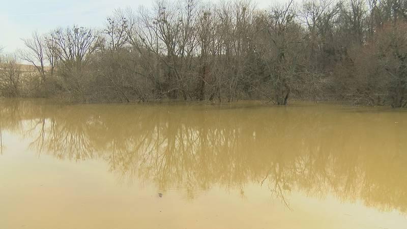 Flooding at Harrod's Creek.