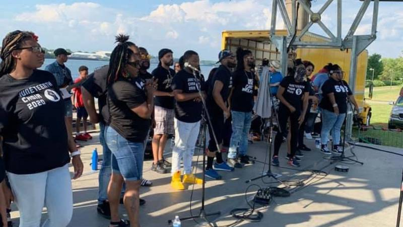 A Louisville choir is preparing to bring a unique message to attendees at a Juneteenth event on...