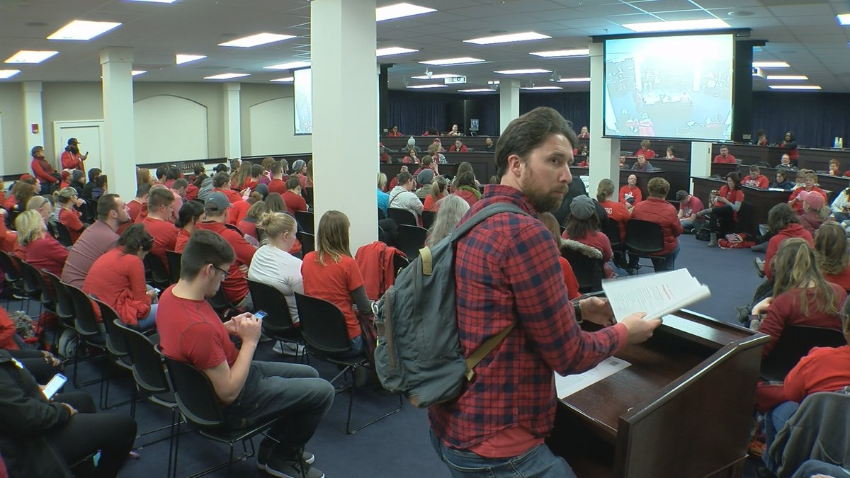 Kentucky educators, especially those in JCPS, protested in Frankfort on Wednesday.