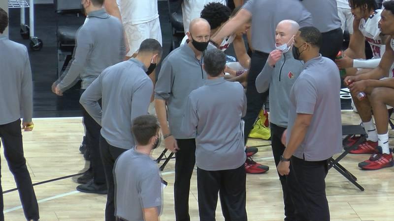 UofL men's basketball coaching staff