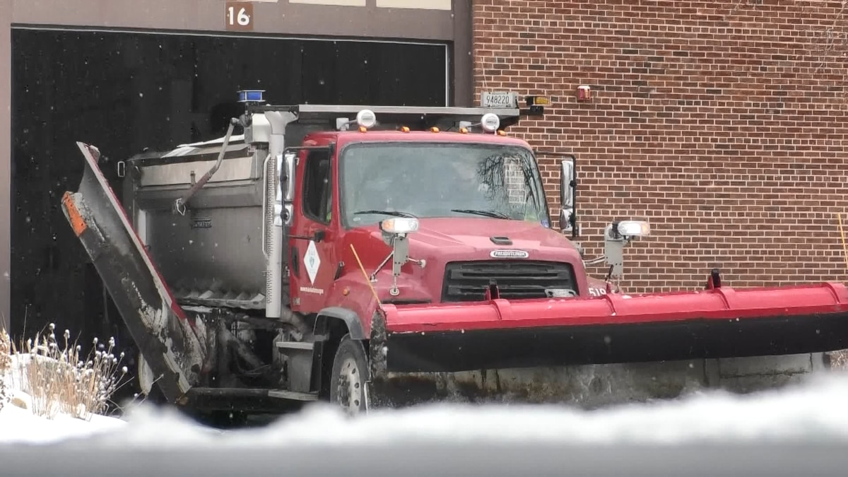 FILE — In this KEYC News Now file photo, a City of Mankato snowplow is seen exiting the City of...