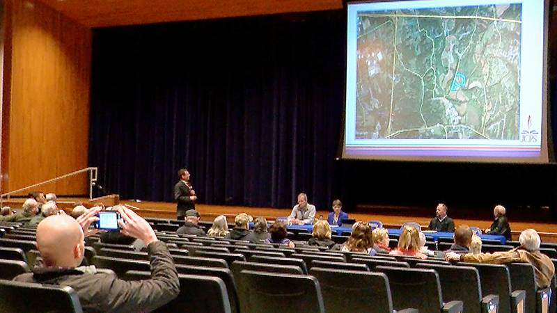 The property being considered for a new JCPS middle school is a 230-acre lot on Echo Trail,...
