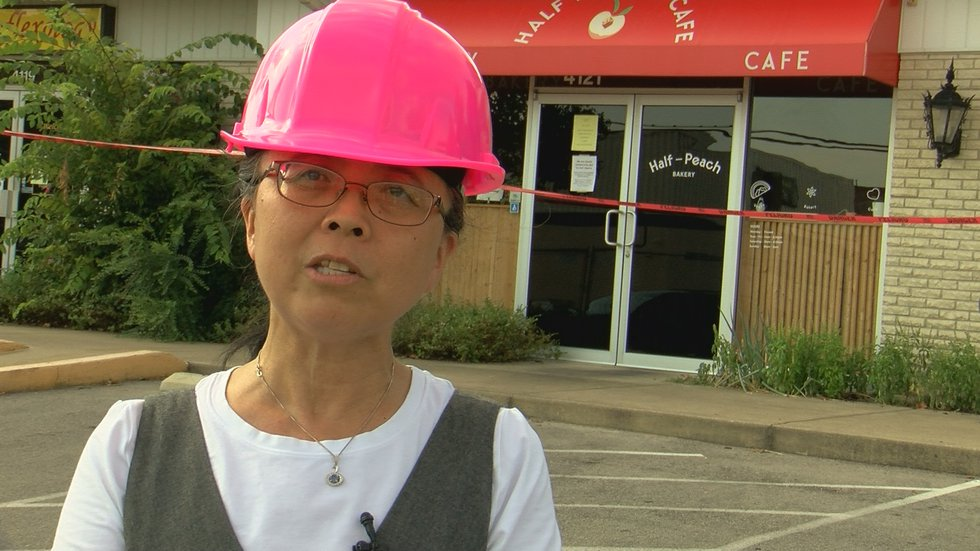 Sue Chao, owner of Half-Peach Bakery, said she was scared for her customers and employees when...
