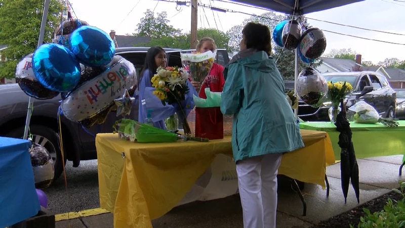 A retirement party couldn't be held because of the coronavirus pandemic, so the staff threw...