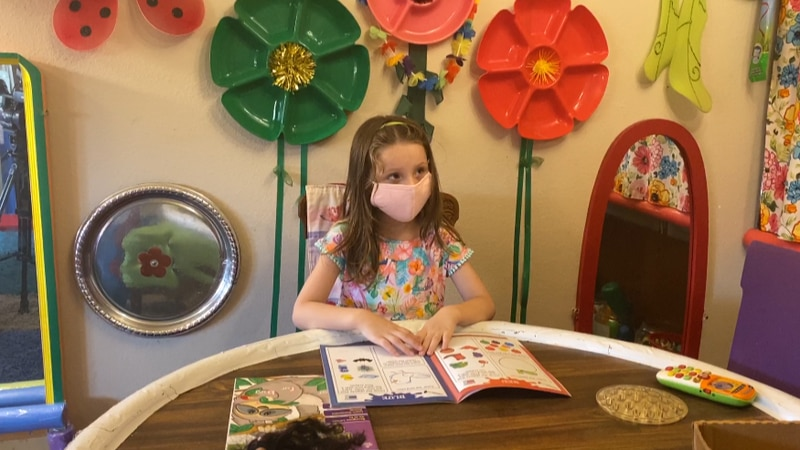 Kaylynn, 5, would've gone to Fairview Elementary School in Lake Charles, if it weren't for the...