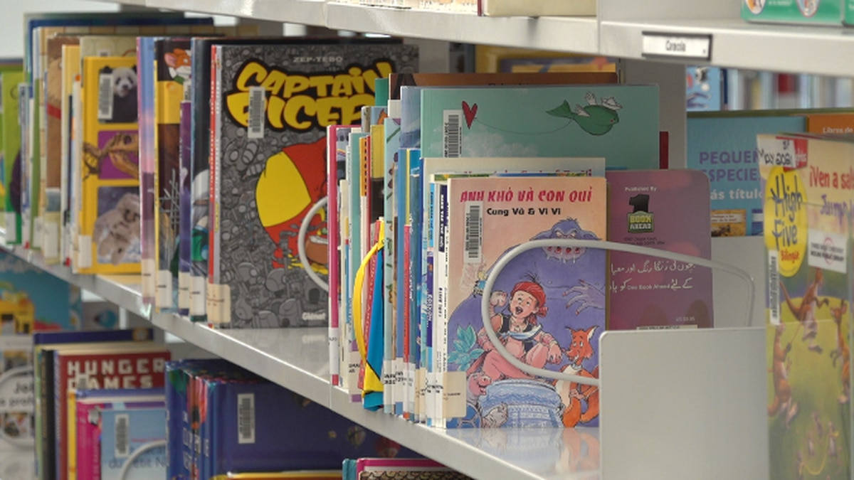 Overdue library fines were eliminated in Louisville Thursday.