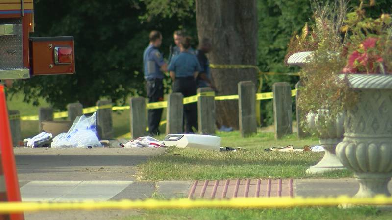 LMPD said two men were hit while on a golf cart at the Seneca Park golf course and one of the...