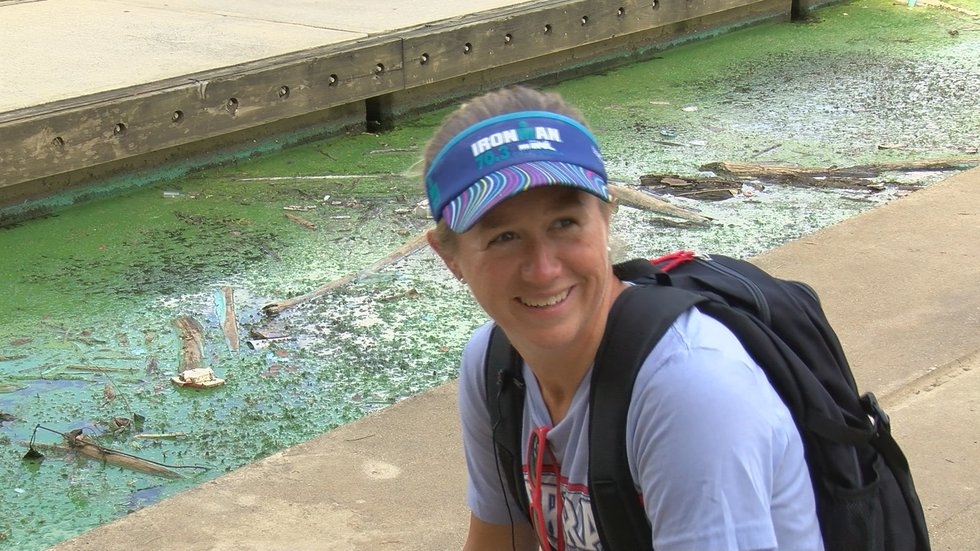 Meridith Nguyen was most looking forward to the swimming leg of the Ironman Triathlon.