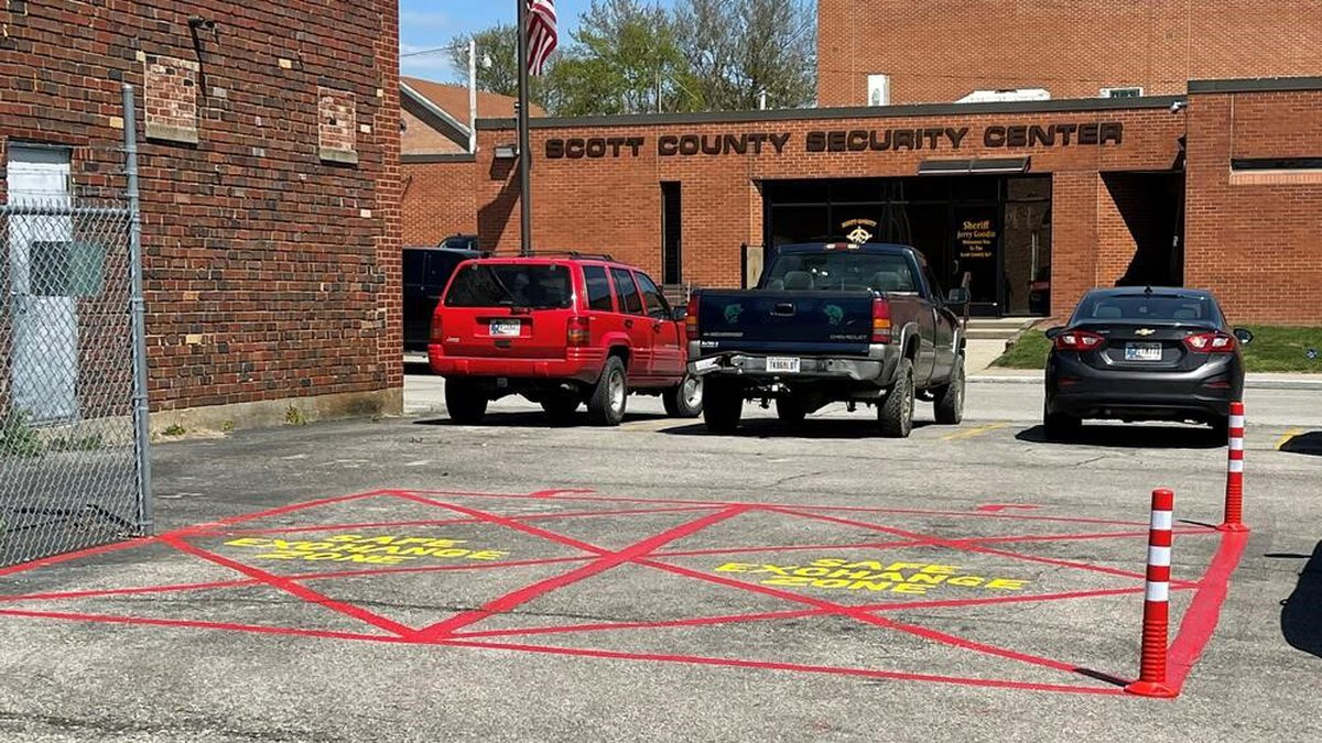 The Sheriff's office created a Safe Exchange Zone with has security cameras that record video.