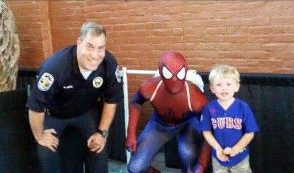 Officer Wise worked off-duty with the Louisville Bats. (Source: LMPF)