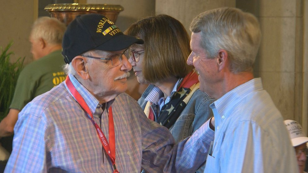 All of the WWII vets brought stories of camaraderie and duty as well as sacrifice.