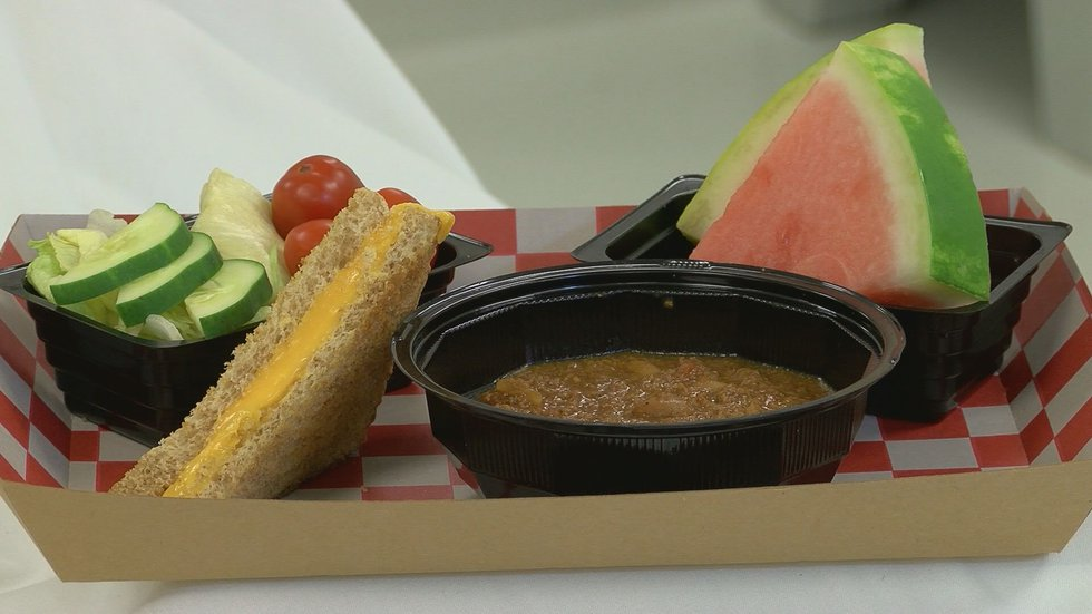 Some of the new options include grilled cheese, chili, and fruit cups.