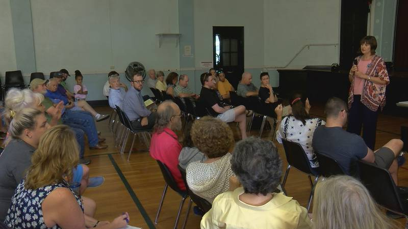 Neighbors expressed concerns with settlement money being paid to the Marian Group, some of...