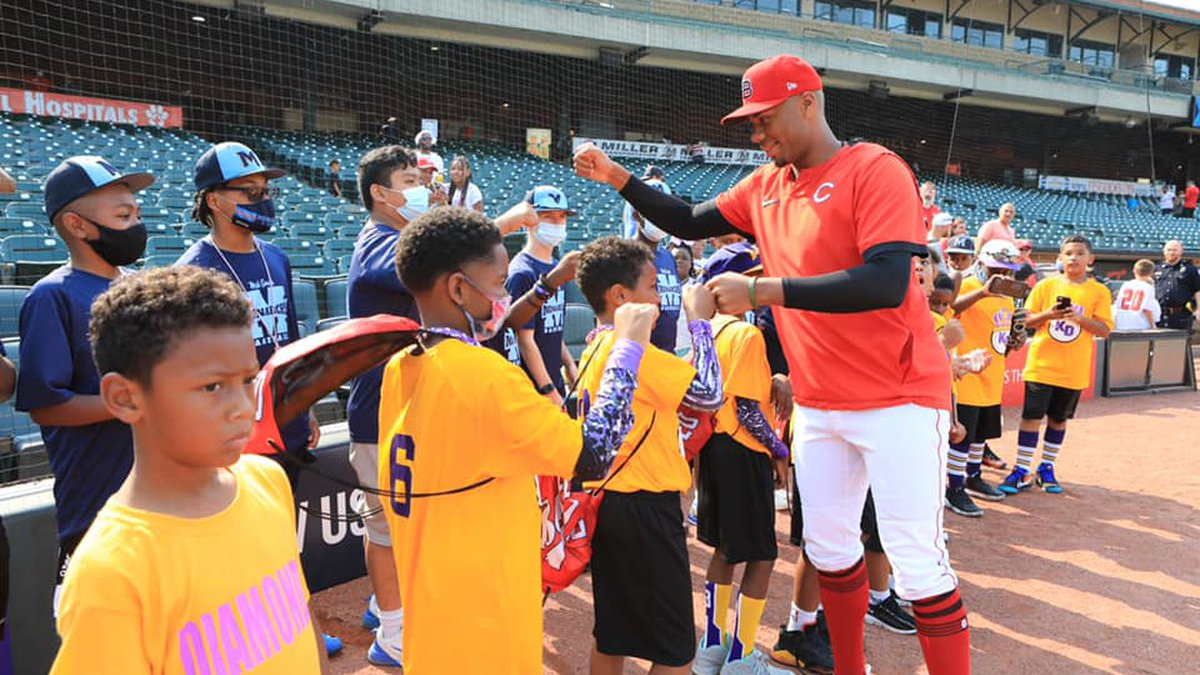 A top prospect for the major leagues is giving back to the community, donating new equipment to...