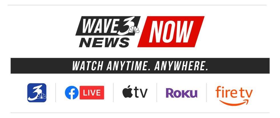 Get the WAVE 3 News app on ROKU, Apple TV and Fire TV.