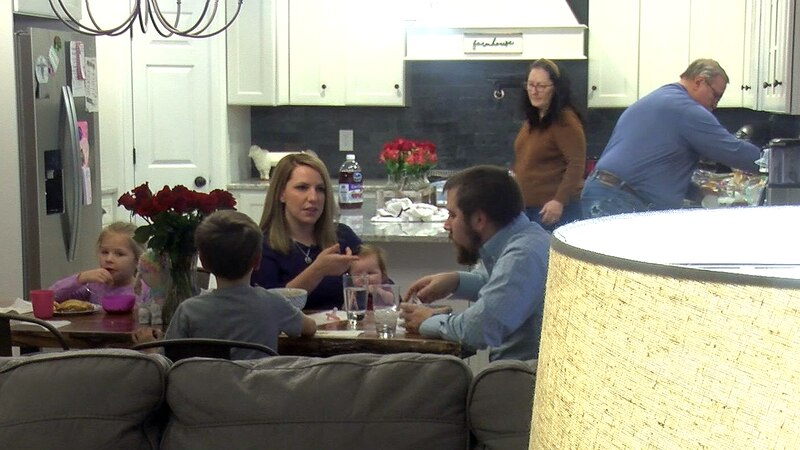 Sarah Jordan and her husband, Brian Neff, share a home in Floyds Knobs with her parents and...