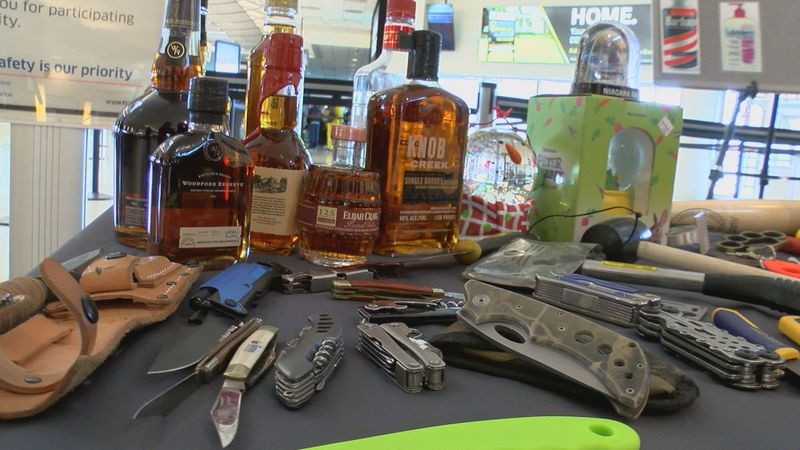 During Derby, bourbon, snow globes and knives are popular souvenirs. (Source: WAVE 3 News)