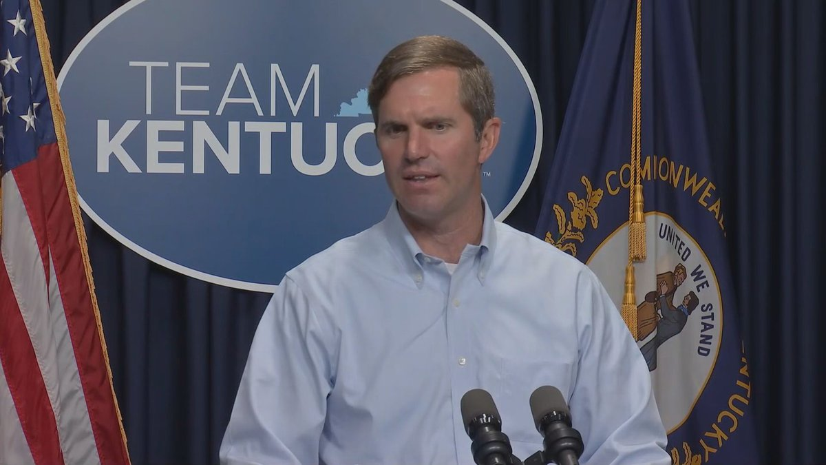 Governor Andy Beshear (D-Ky.) delivers his Team Kentucky update on July 22, 2021.