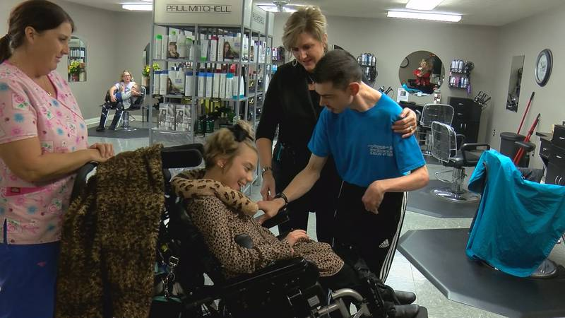 Mallory and Josh both have cerebral palsy - and have become friends.