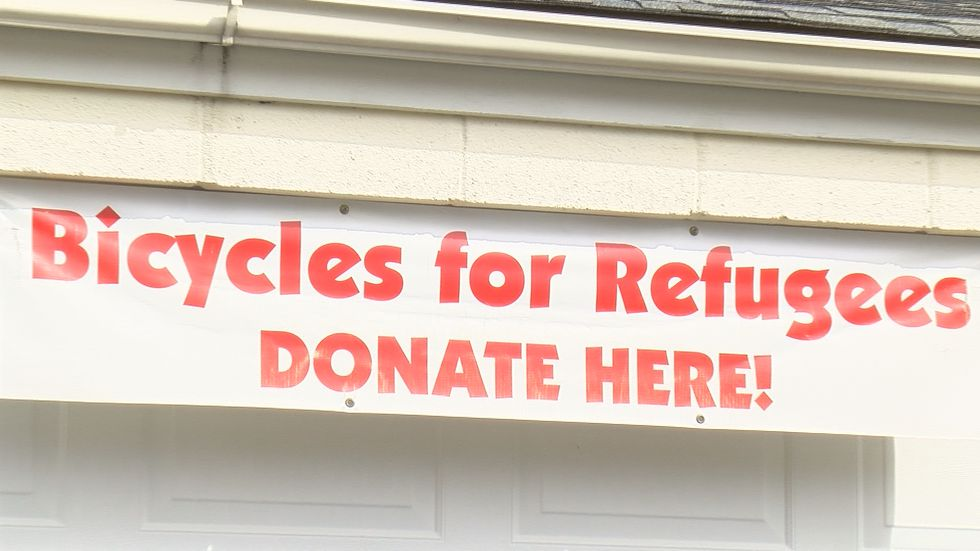 Callander said the organization only has about 40 bikes. Their goal is to collect another 150.