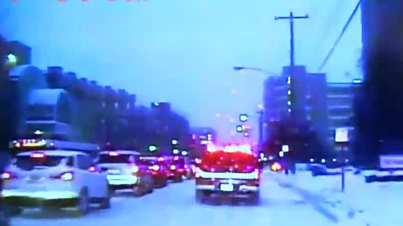 Police, first responders navigate weather, rush hour to save a life