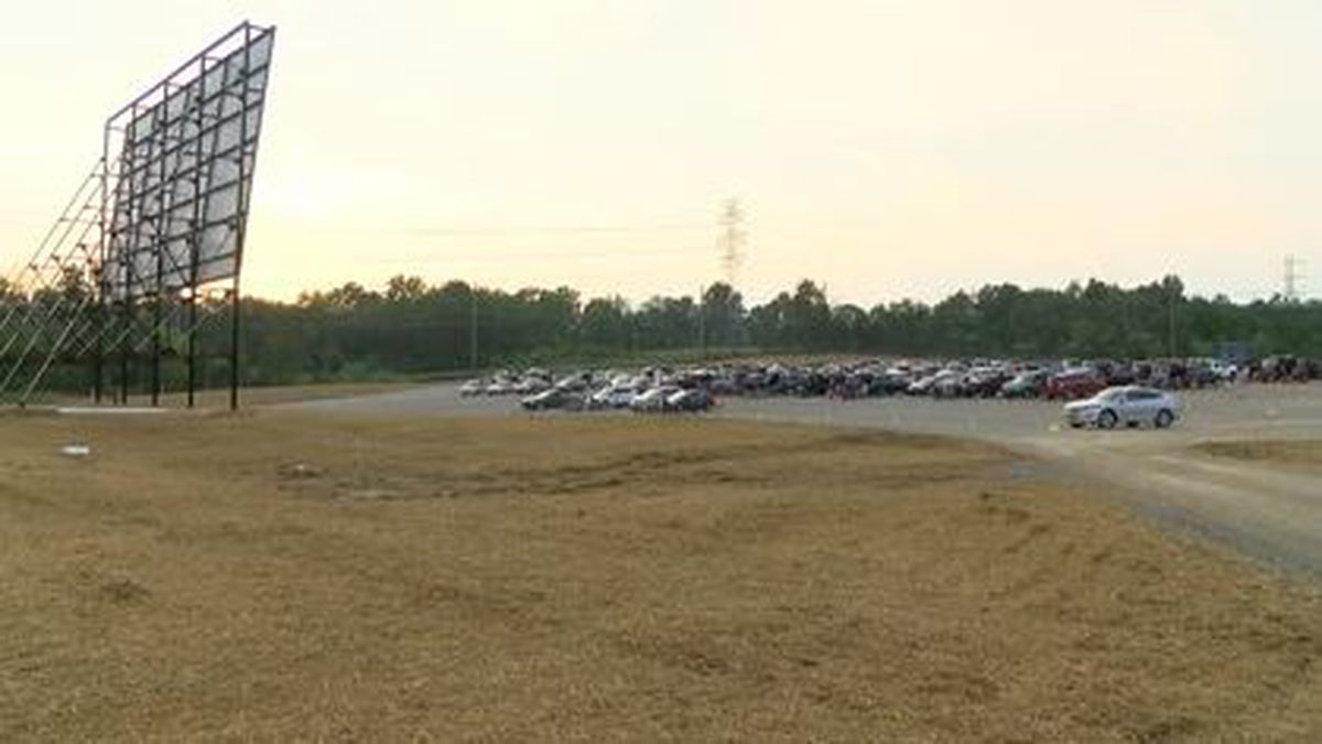 Work continues to reopen a drive-in movie theater in La Grange that was damaged by a store in...