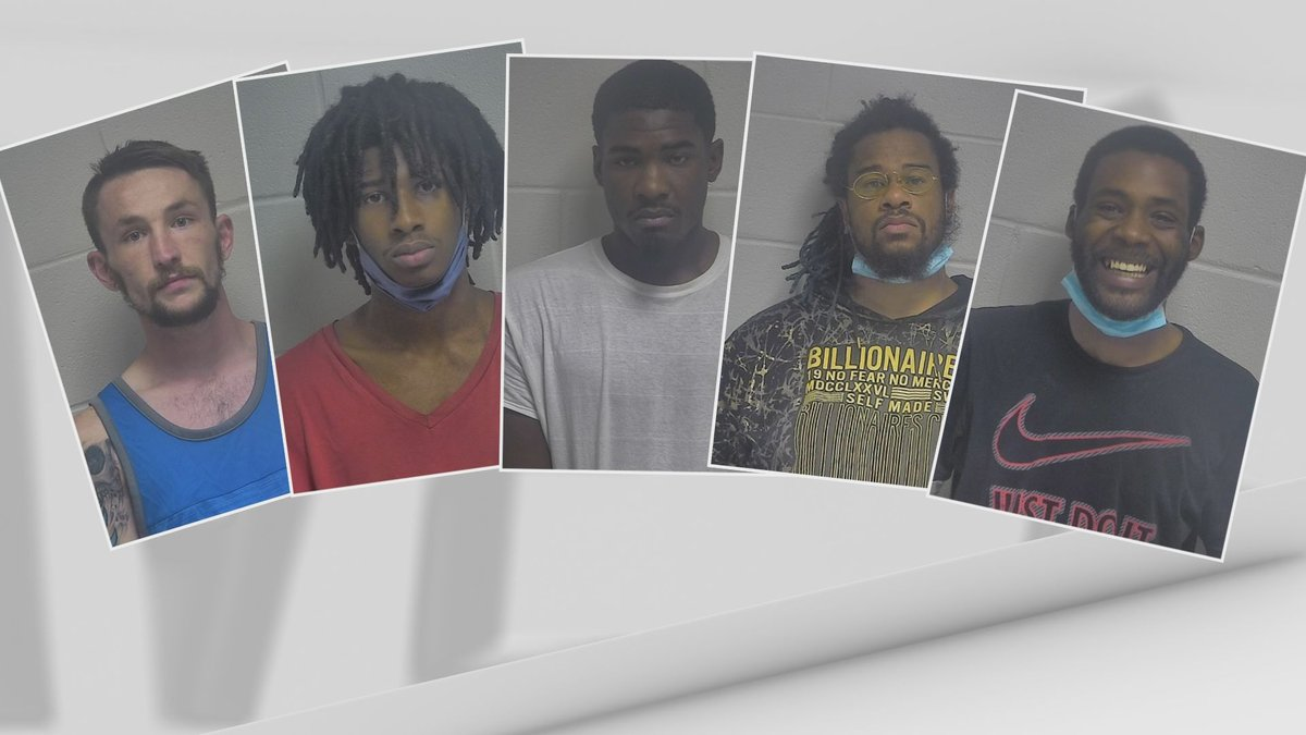 From left to right: Brian Dean, Damion Lewis, Tevin Patton, Jean-Pierre Crowdus and Frederick...