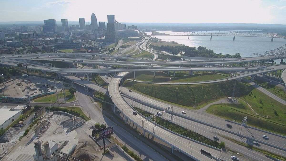"""Spaghetti Junction was redesigned and """"untangled' during the recent Ohio River Bridges Project..."""