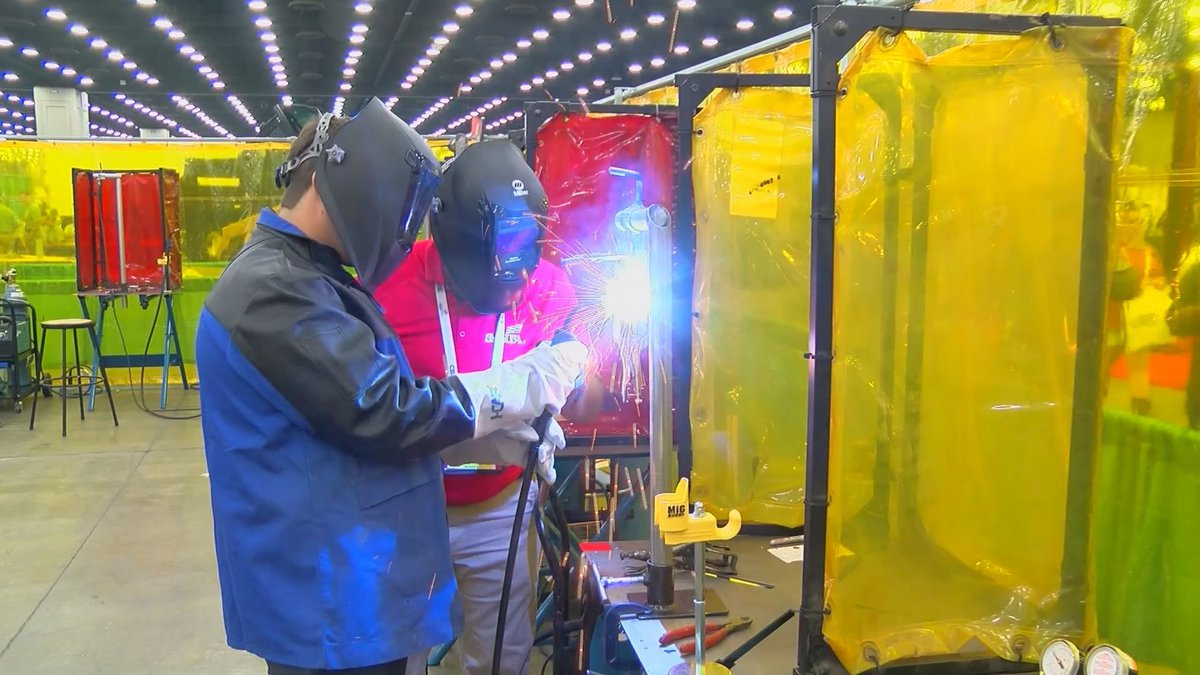 The American Welding Standards certification process requires a skills test in person.