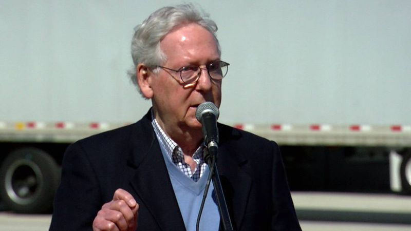 Senator Mitch McConnell was back in The Bluegrass State Tuesday to visit the McKesson warehouse.