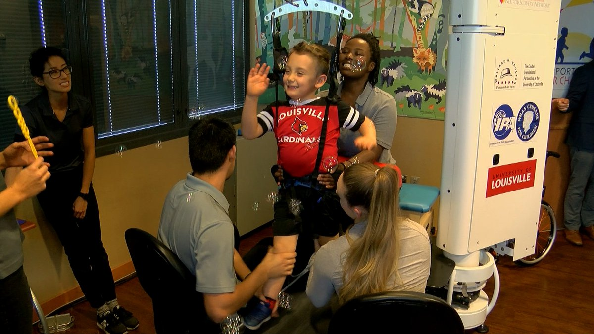 A new treadmill system developed by staff at the University of Louisville is helping children...