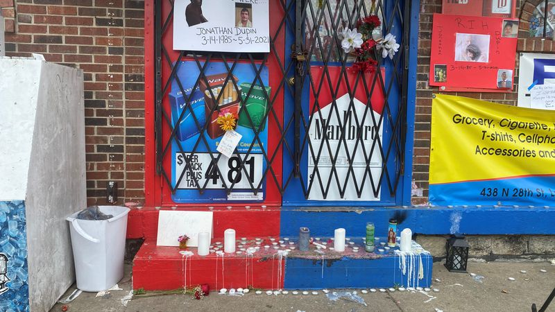 memorial for 36-year-old Jonathan Dupin