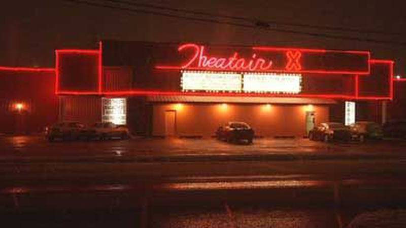 Police said complaints about prostitution and lewd behavior inside Theatair X prompted the raid.