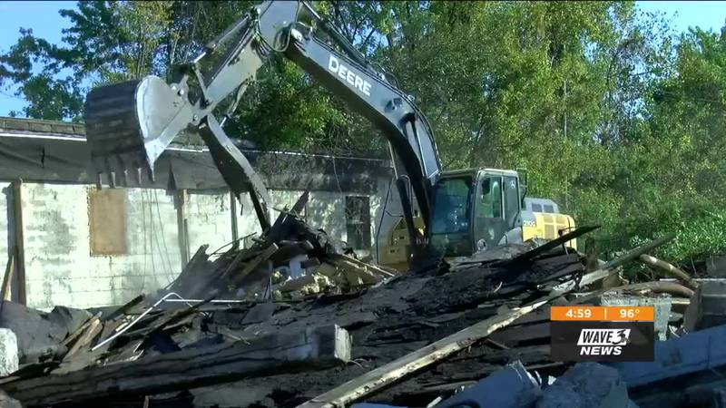 Wednesday's demolition of old, industrial buildings marked the first step forward in the New...