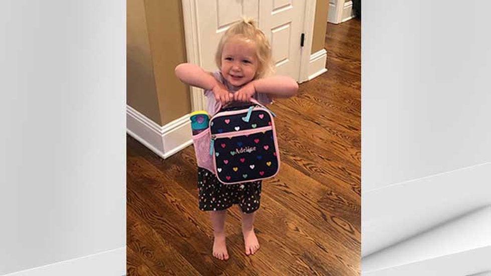 Adeline Schultz is is one of many youngsters in Kentucky who headed back to day care on June 15...