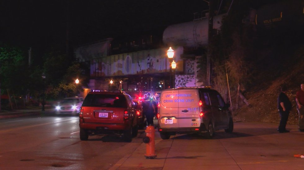 The man who was hit has been listed in critical condition, according to LMPD.