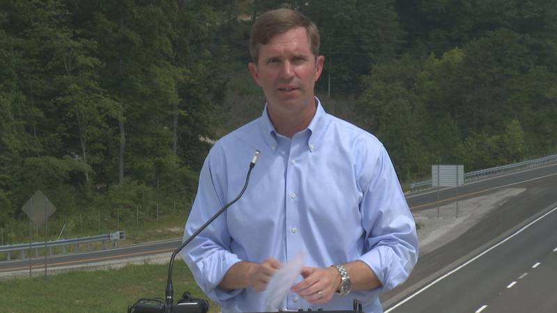 Gov. Andy Beshear discusses the continued expansion of the Mountain Parkway.
