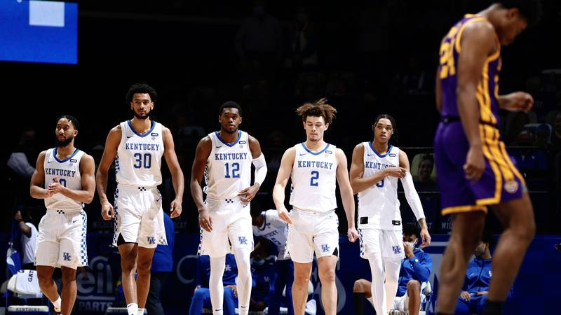 Kentucky men's basketball hosted LSU at Rupp Arena on Jan. 23, 2021, in Lexington, Ky.
