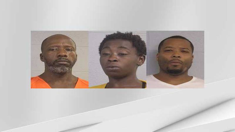 Samuel Harding, Lashai Savage and Keemont Oates are three of four people arrested by Louisville...