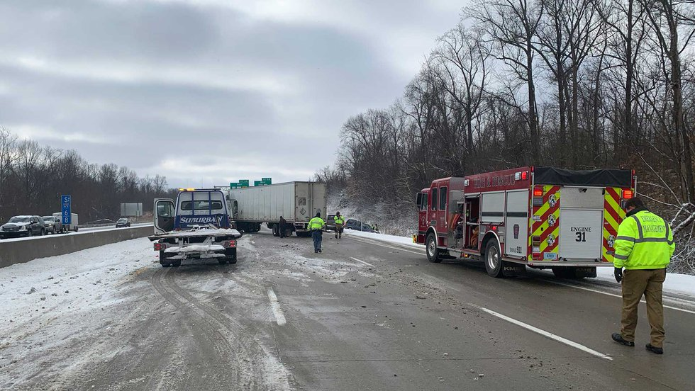 Interstate 65 South in Clark County, Indiana was closed at the 6.8 mile maker after a four...