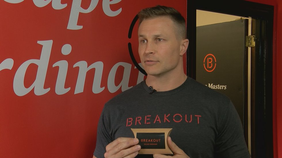 Logan Abbott, General Manager of Breakout Games Louisville.
