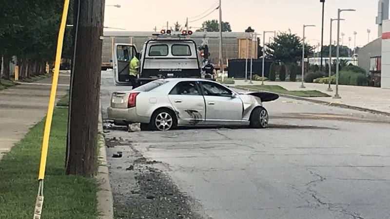 The crash happened at Floyd Street and Byrne Avenue, near UofL's soccer stadium. (Source: WAVE...