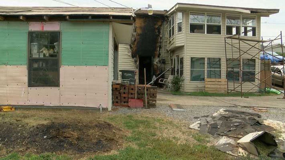 The cause of the fire is under investigation. (Source: Michael Flynn, WAVE 3 News)
