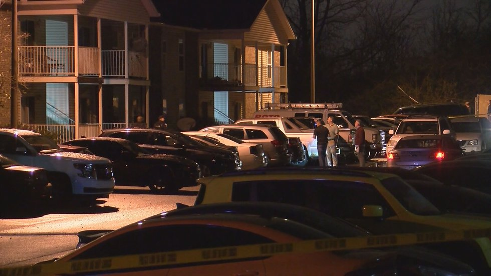 The scene outside the apartment of Breonna Taylor following her shooting death while Louisville...