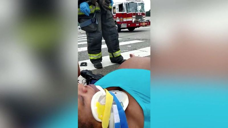Latanya Thornton was 37 weeks pregnant when a driver ran a red light and hit her car, injuring...