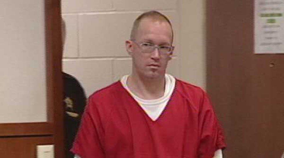 Joseph Banis entering the courtroom for sentencing on June 12, 2013.