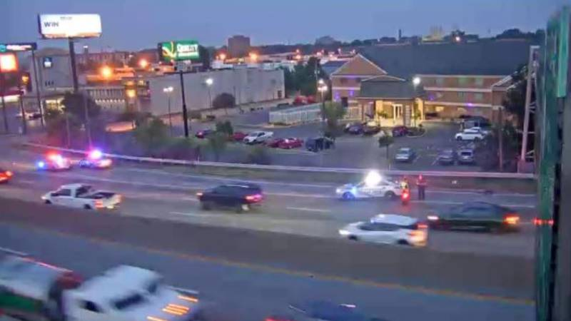 A pedestrian was seriously injured after being hit by a vehicle on Interstate 65.