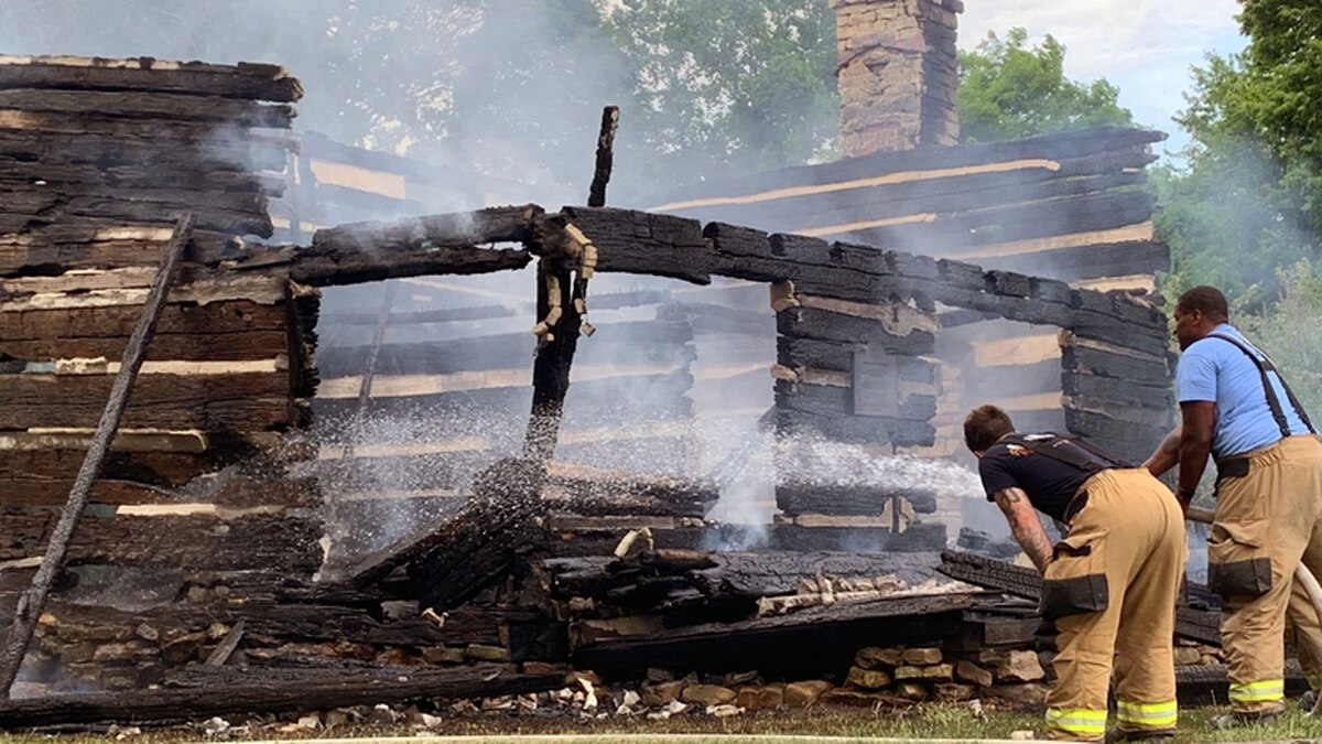 The George Rogers Clark home site in Clarksville was destroyed by a massive fire on May 20.