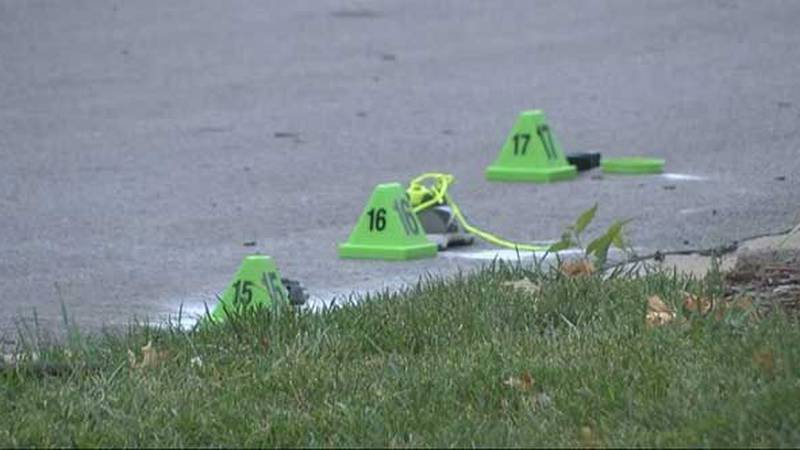 Markers identify evidence locations. (Source: James Thomas, WAVE 3 News)